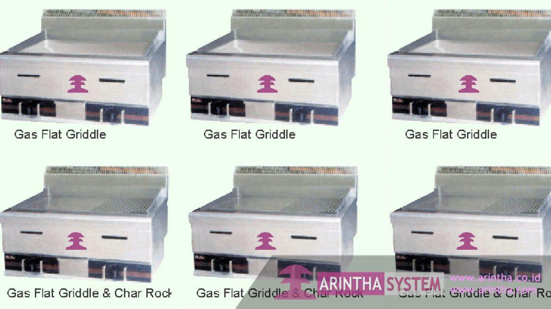 Gas Griddle, Char Rock & Broiler